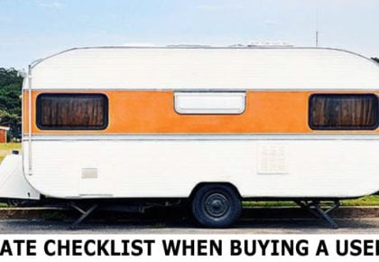 Buying A Second-Hand Caravan
